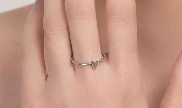 Sky Stack heart ring